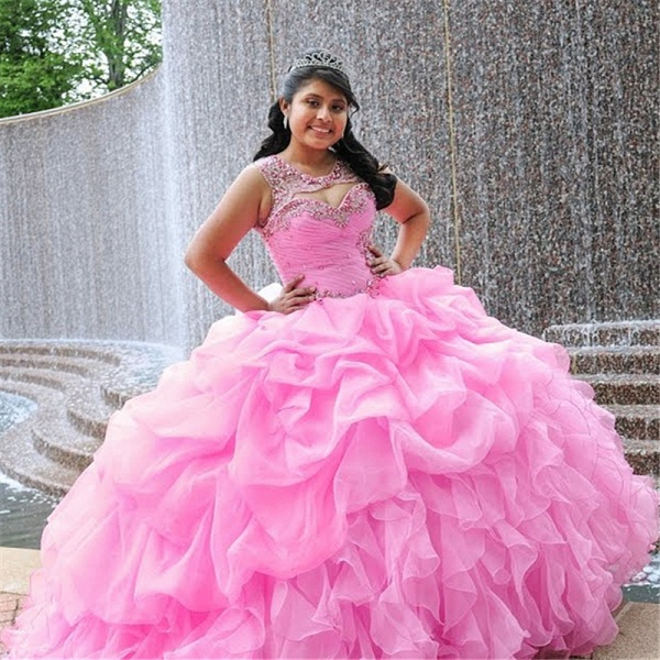 Amazing Jewel Tulle Ball Gown Quinceanera Dress_1