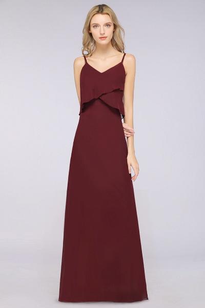 A-Line Chiffon Spaghetti-Straps V-Neck Sleeveless Floor-Length Bridesmaid Dress_35