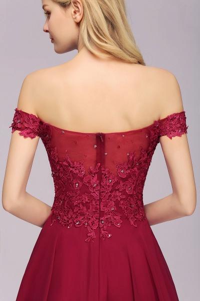 BM0793 Elegant Lace Off-the-Shoulder Short Bridesmaid Dress_8