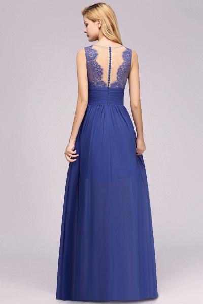 BM0835 Lace Chiffon Jewel Sleeveless Ruffles Short Bridesmaid Dress_54