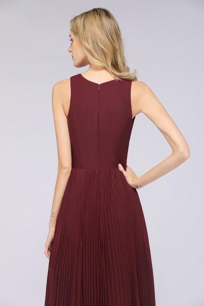 A-Line Satin Chiffon V-Neck Sleeveless Floor-Length Bridesmaid Dress with Ruffles_8