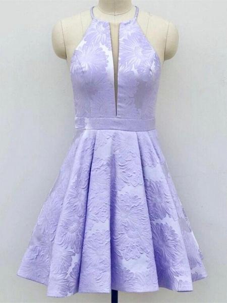 Deep-V-Neck Halter Appliques A-Line Sleeveless Homecoming Dress_5