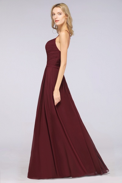 A-Line Chiffon Spaghetti-Straps Sweetheart Sleeveless Floor-Length Bridesmaid Dress with Ruffles_40