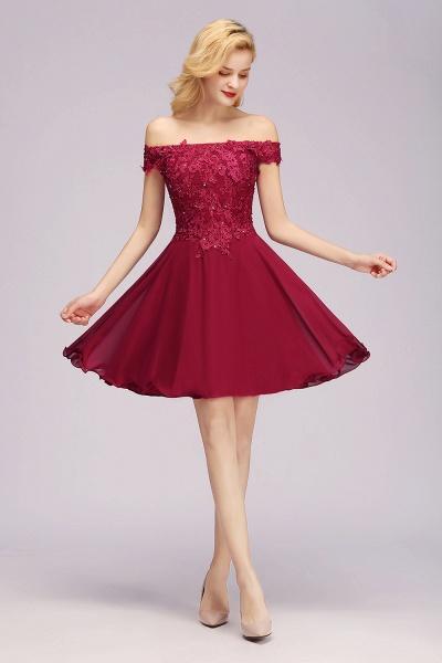 BM0793 Elegant Lace Off-the-Shoulder Short Bridesmaid Dress_3