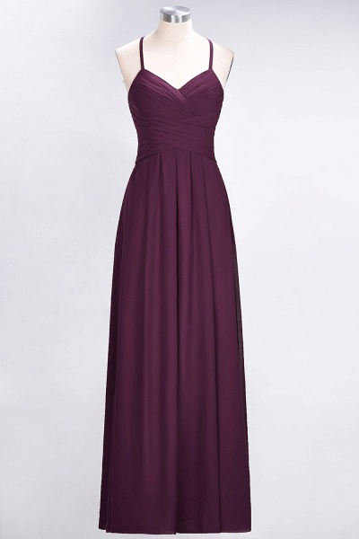 A-Line Chiffon Halter V-Neck Sleeveless Floor-Length Bridesmaid Dress with Ruffles_19