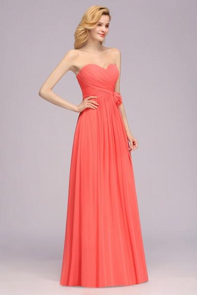 BM0792 Simple Sweetheart Strapless Flower A-line Bridesmaid Dress_5