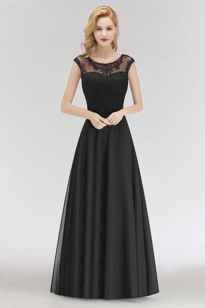BM0075 Chiffon Scoop Sleeveless Long Lace Bridesmaid Dress_3