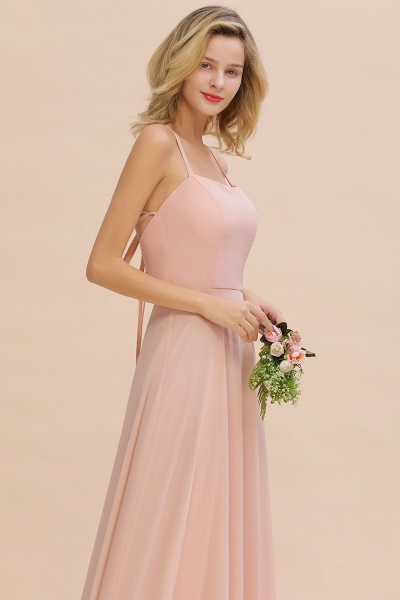 BM0782 Modern Chiffon Straps Sleeveless Open Back Long Bridesmaid Dress_7