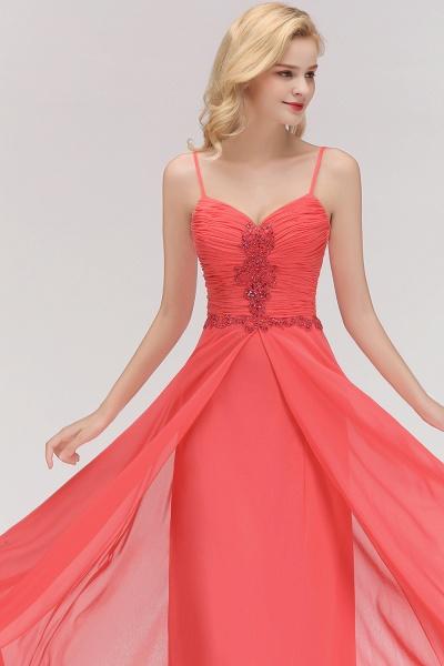 BM0084 Elegant Spaghetti Straps Ruffles Appliques Bridesmaid Dress_6