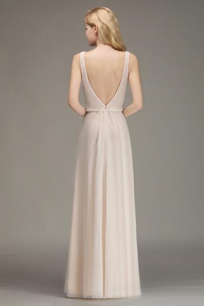 BM0033 Elegant Straps Sexy V-Neck Long Bridesmaid Dress_2