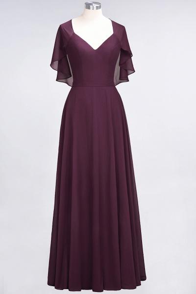 A-Line Chiffon Satin V-Neck short-sleeves Floor-Length Bridesmaid Dress_19