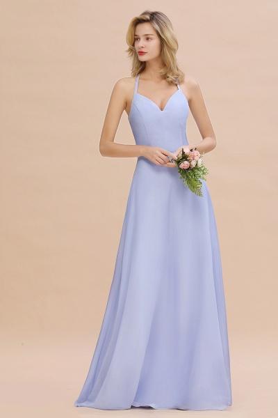 BM0779 Stylish Chiffon Spaghetti Straps Sleeveless Long Bridesmaid Dress_53
