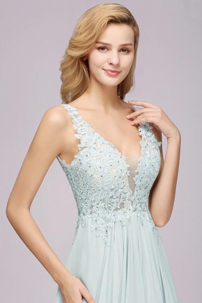 BM0833 Sexy Chiffon Beaded Lace V-Neck Sleeveless Long Bridesmaid Dress_7