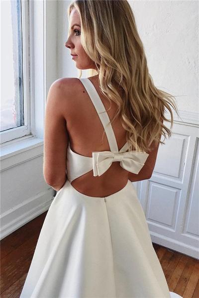 Excellent Straps Bow A-line Prom Dress_2