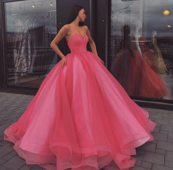 Best Sweetheart Tulle Ball Gown Prom Dress_4