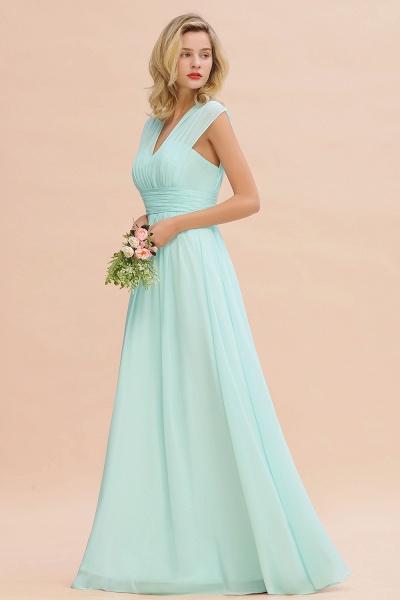 BM0774 Chiffon V-Neck Sleeveless Elegant A-line Ruffles Bridesmaid Dress_54