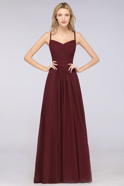 A-Line Chiffon Spaghetti-Straps Sweetheart Sleeveless Floor-Length Bridesmaid Dress with Ruffles_35