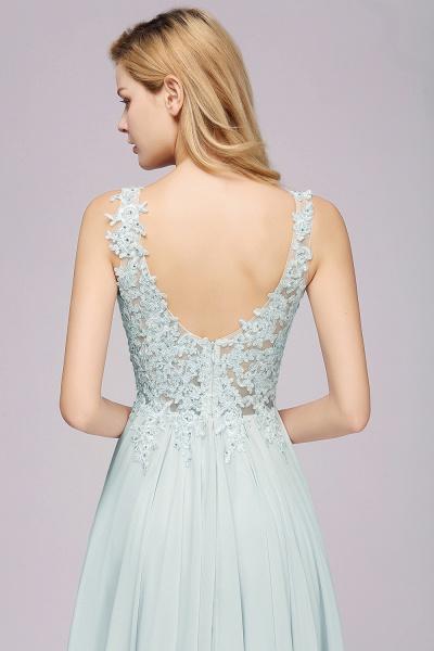 BM0833 Sexy Chiffon Beaded Lace V-Neck Sleeveless Long Bridesmaid Dress_8