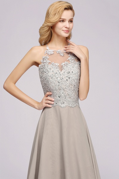 BM0794 Exquisite Lace Sleeveless Side Slit Bridesmaid Dress_7