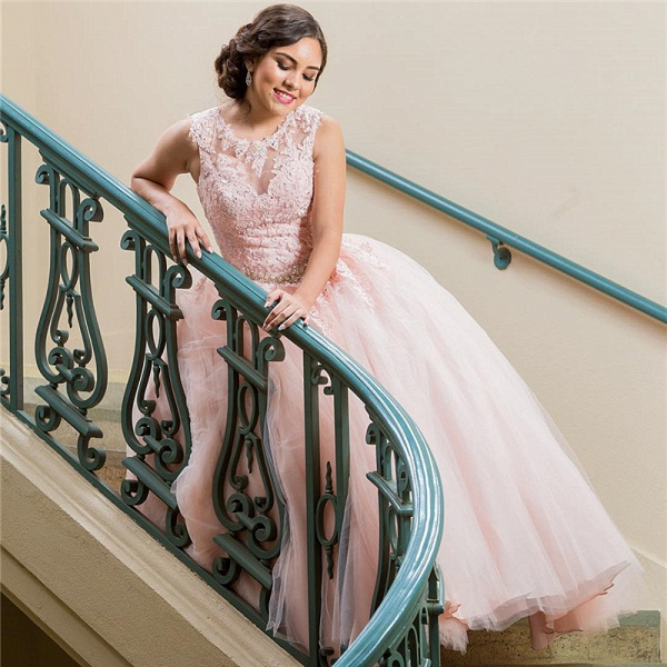 Elegant Jewel Tulle Ball Gown Quinceanera Dress_2