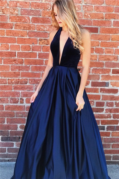 Amazing Halter Ruched A-line Prom Dress_1