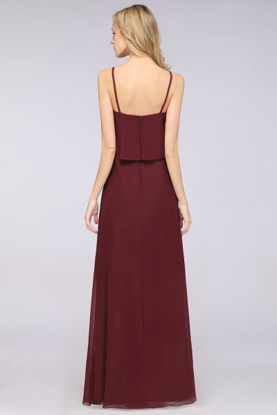 A-Line Chiffon Spaghetti-Straps V-Neck Sleeveless Floor-Length Bridesmaid Dress_36