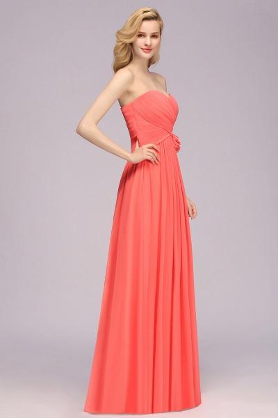 BM0792 Simple Sweetheart Strapless Flower A-line Bridesmaid Dress_6