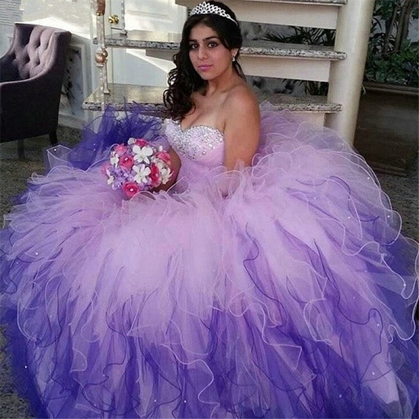 Awesome Sweetheart Tulle Ball Gown Quinceanera Dress_1