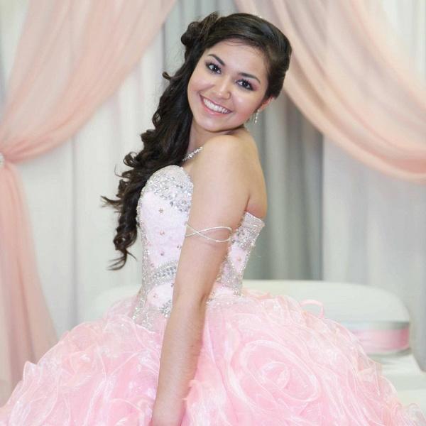 Best Sweetheart Organza Ball Gown Quinceanera Dress_2