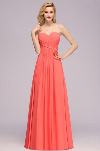 BM0792 Simple Sweetheart Strapless Flower A-line Bridesmaid Dress_4