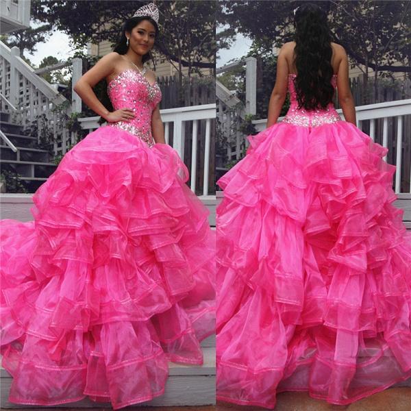Fascinating Halter Organza Ball Gown Quinceanera Dress_1