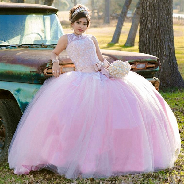 Wonderful Jewel Tulle Ball Gown Quinceanera Dress_1