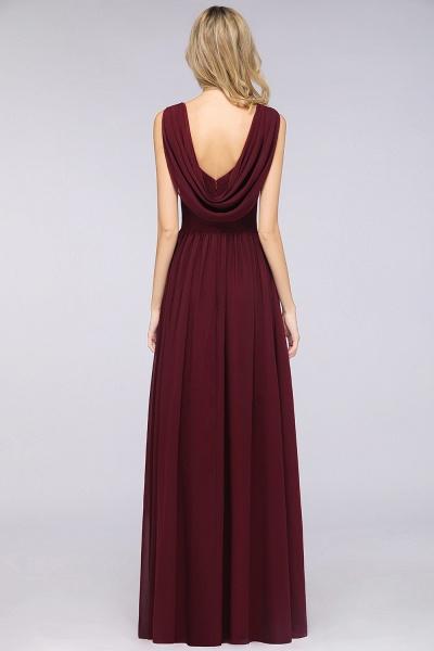 A-Line Chiffon Straps V-Neck Sleeveless Floor-Length Bridesmaid Dress with Ruffles_52