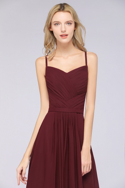 A-Line Chiffon Spaghetti-Straps Sweetheart Sleeveless Floor-Length Bridesmaid Dress with Ruffles_41