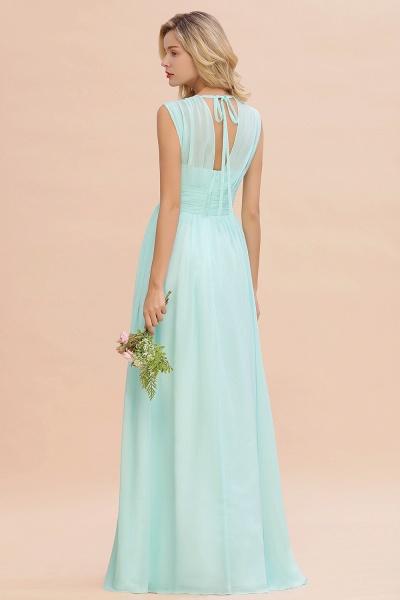 BM0774 Chiffon V-Neck Sleeveless Elegant A-line Ruffles Bridesmaid Dress_52