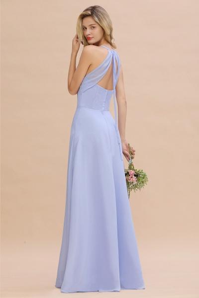 BM0779 Stylish Chiffon Spaghetti Straps Sleeveless Long Bridesmaid Dress_52