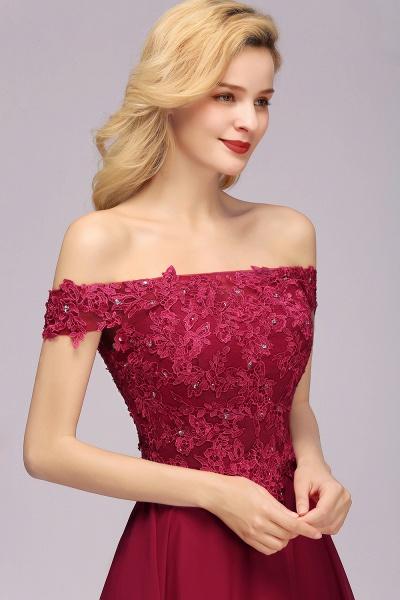 BM0793 Elegant Lace Off-the-Shoulder Short Bridesmaid Dress_7