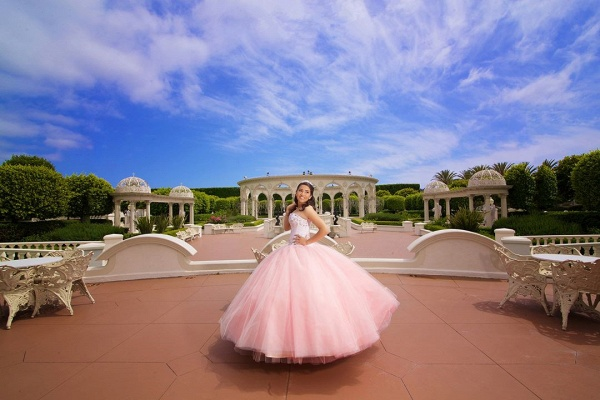 Modest Sweetheart Tulle Ball Gown Quinceanera Dress_2