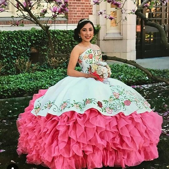 Excellent Sweetheart Organza Ball Gown Quinceanera Dress_2