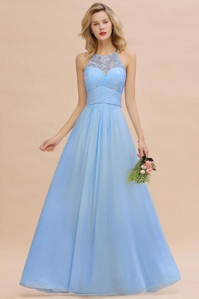 BM0776 Elegant Appliques Jewel Sleeveless Bridesmaid Dress Online_2