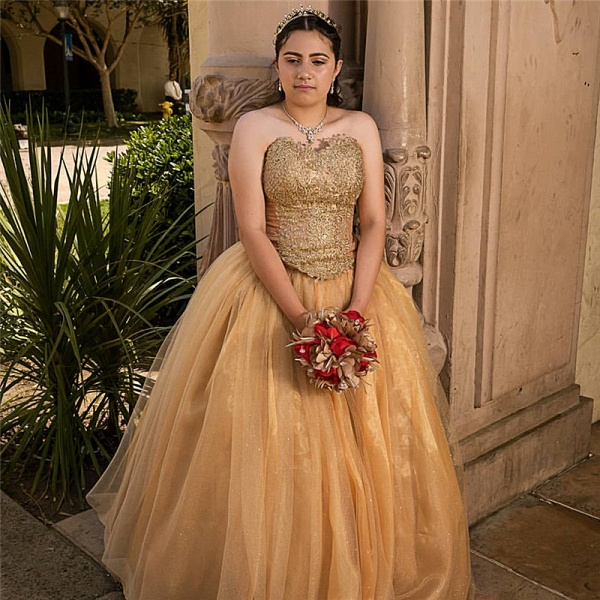 Eye-catching Sweetheart Tulle Ball Gown Quinceanera Dress_2