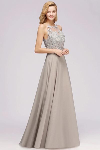 BM0794 Exquisite Lace Sleeveless Side Slit Bridesmaid Dress_4