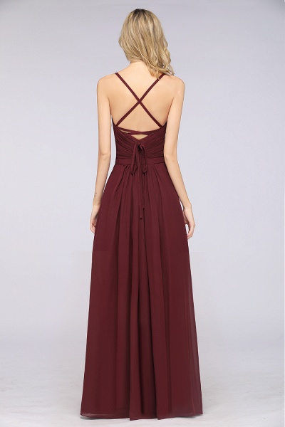 A-Line Chiffon Spaghetti-Straps Sweetheart Sleeveless Floor-Length Bridesmaid Dress with Ruffles_36