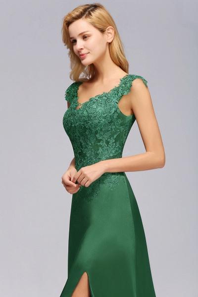 BM0796 A-line Lace Front-Slit Long Bridesmaid Dress_8
