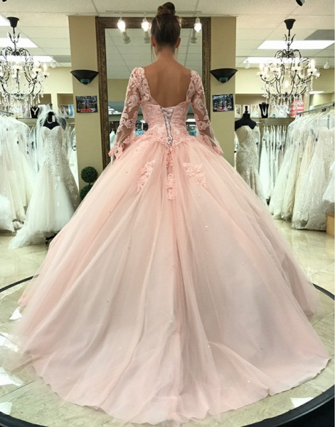 Fascinating V-neck Tulle Ball Gown Quinceanera Dress_2