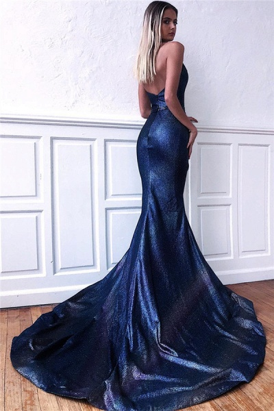 Best Halter Ribbons Mermaid Prom Dress_2