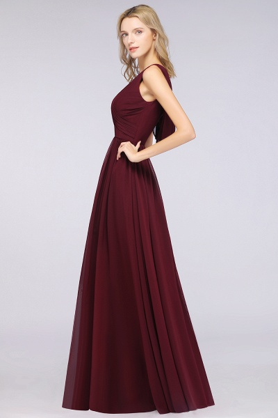A-Line Chiffon Straps V-Neck Sleeveless Floor-Length Bridesmaid Dress with Ruffles_53