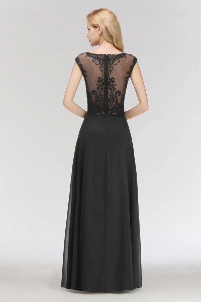 BM0075 Chiffon Scoop Sleeveless Long Lace Bridesmaid Dress_2