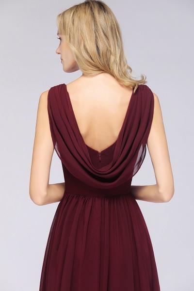 A-Line Chiffon Straps V-Neck Sleeveless Floor-Length Bridesmaid Dress with Ruffles_55