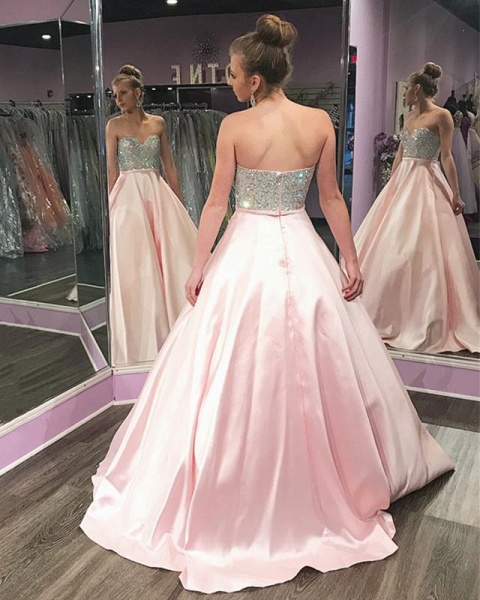 Attractive Sweetheart Satin A-line Quinceanera Dress_2